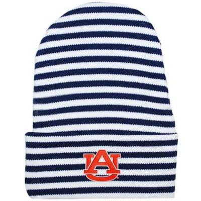 Auburn Infant Striped Knit Cap