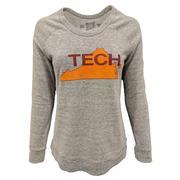 Virginia Tech Retro Brand Tech State Scoop Crewneck