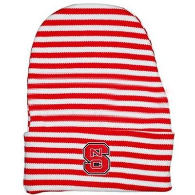 NC State Infant Striped Knit Cap