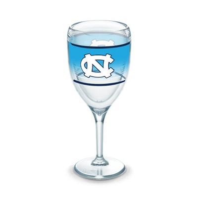 UNC Tervis 9 oz Wrap Wine Glass