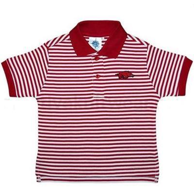 Arkansas Toddler Striped Polo