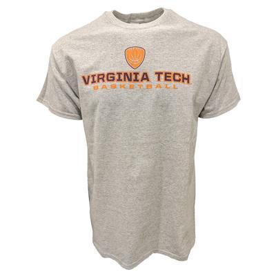 Virginia Tech Shield Stack Basketball T-Shirt