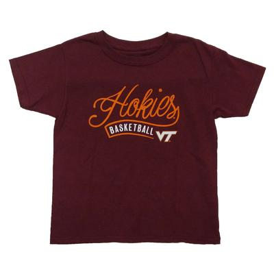 Virginia Tech Youth Whispy Script Basketball T-Shirt