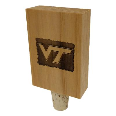 Virginia Tech Timeless Etchings Hickory Bottle Stopper