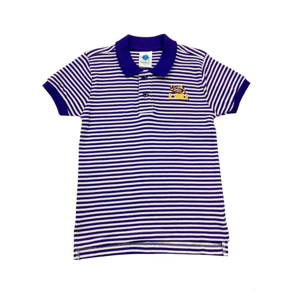 Lsu Toddler Striped Polo Shirt