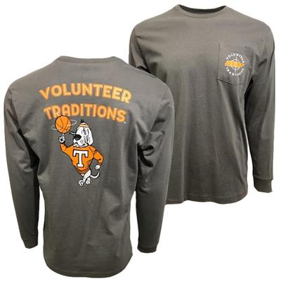Tennessee Volunteer Traditions Smokey Basketball Long Sleeve Tee