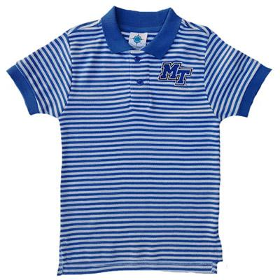 MTSU Toddler Striped Polo Shirt