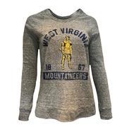 West Virginia Retro Brand Women's Debby Quad Pullover