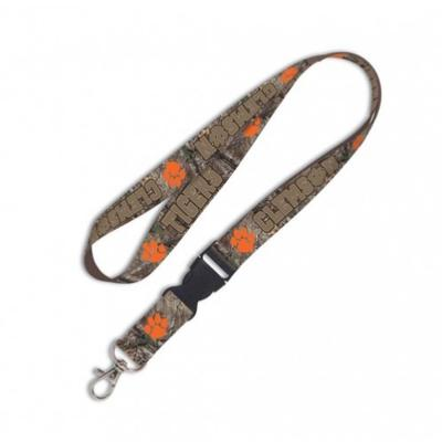 Clemson Wincraft Camo Lanyard With Detachable Buckle