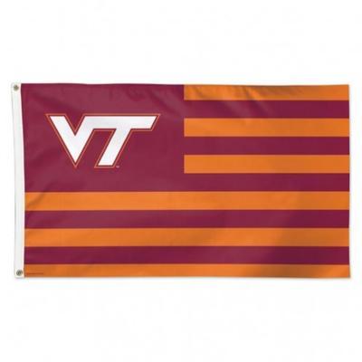 Virginia Tech Wincraft Striped House Flag