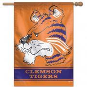 Clemson Wincraft Vault Tiger Vertical House Flag