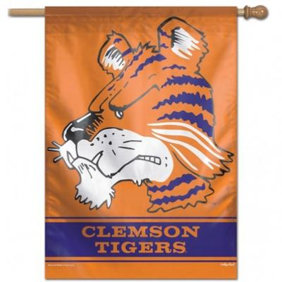 Clemson Wincraft Vault Tiger Vertical House Flag