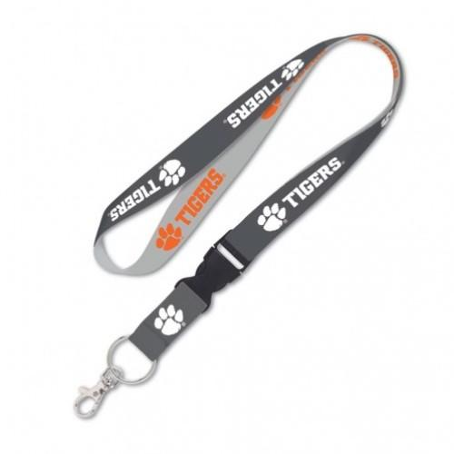 Clemson Wincraft Charcoal Lanyard With Detachable Buckle