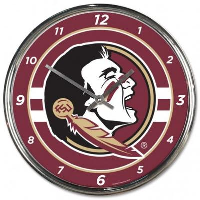 Florida State Wincraft Chrome Clock
