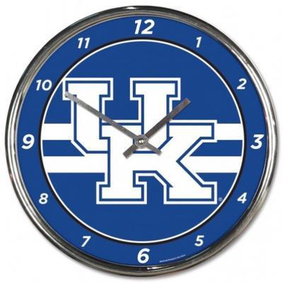 Kentucky Wincraft Chrome Clock