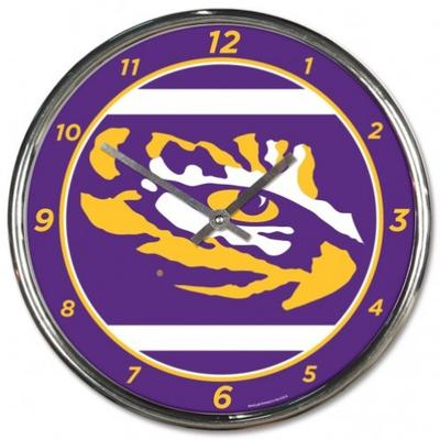 LSU Wincraft Chrome Clock