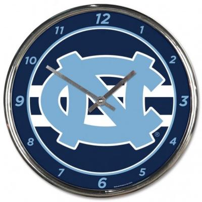 UNC Wincraft Chrome Clock