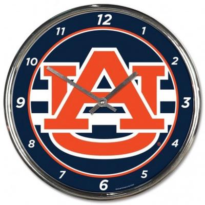 Auburn Wincraft Chrome Clock