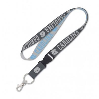 UNC Wincraft Charcoal Lanyard With Detachable Buckle