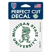 Michigan State Wincraft Vault Perfect Cut Decal 4