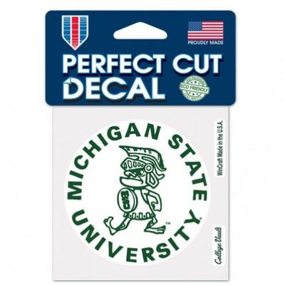 Michigan State Wincraft Vault Perfect Cut Decal 4