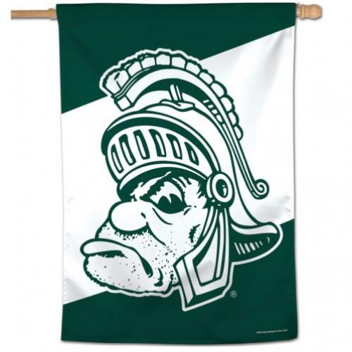 Michigan State Wincraft Vault Spartan Vertical House Flag