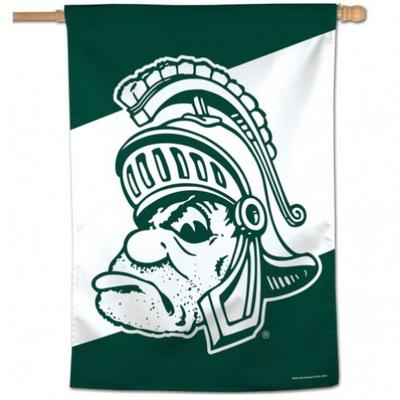 Michigan State Wincraft Vault Spartan Vertical House Flag