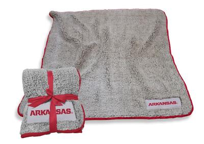 Arkansas Logo Chair Frosty Fleece Blanket