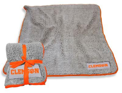 Clemson Logo Chair Frosty Fleece Blanket
