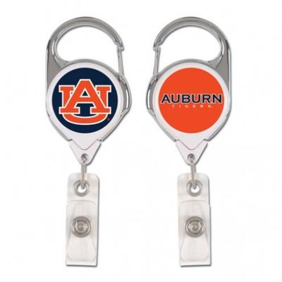 Auburn Wincraft Retractible Premium Badge Reel