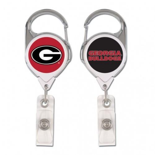 Georgia Wincraft Retractible Premium Badge Reel