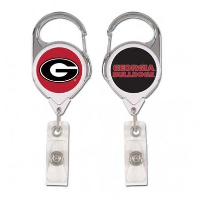 Georgia Wincraft Retractible Premium Badge Reel