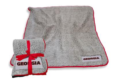 Georgia Logo Chair Frosty Fleece Blanket