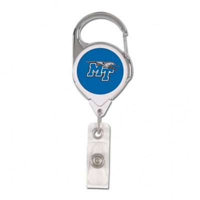 MTSU Wincraft Retractible Premium Badge Reel
