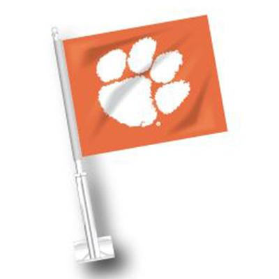 Clemson Paw Logo Car Flag