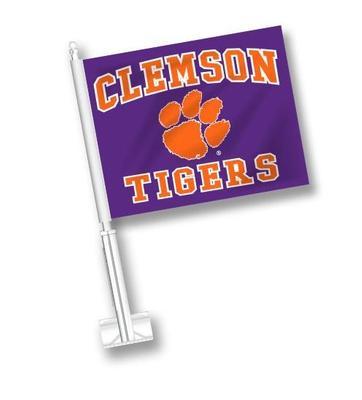 Clemson Tigers Purple Car Flag
