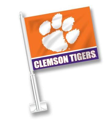 Clemson Tigers Orange Car Flag