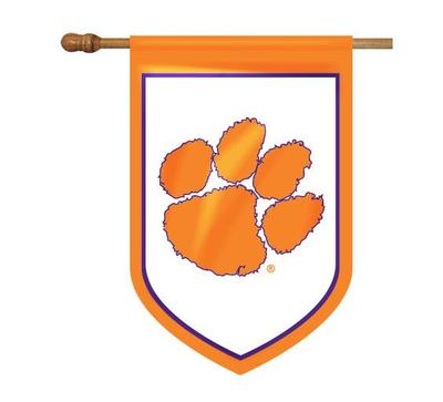 Clemson Shield House Flag