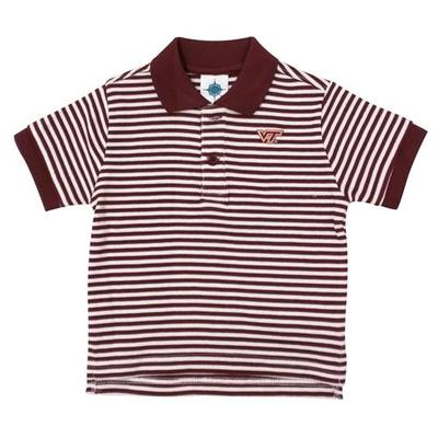 Virginia Tech Toddler Striped Polo