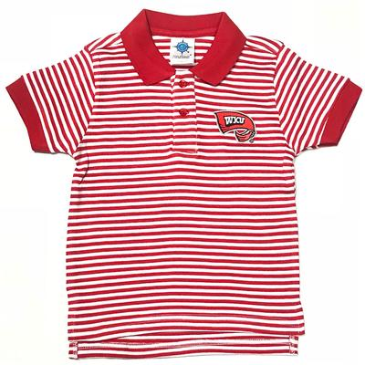 Western Kentucky Toddler Striped Golf Shirt