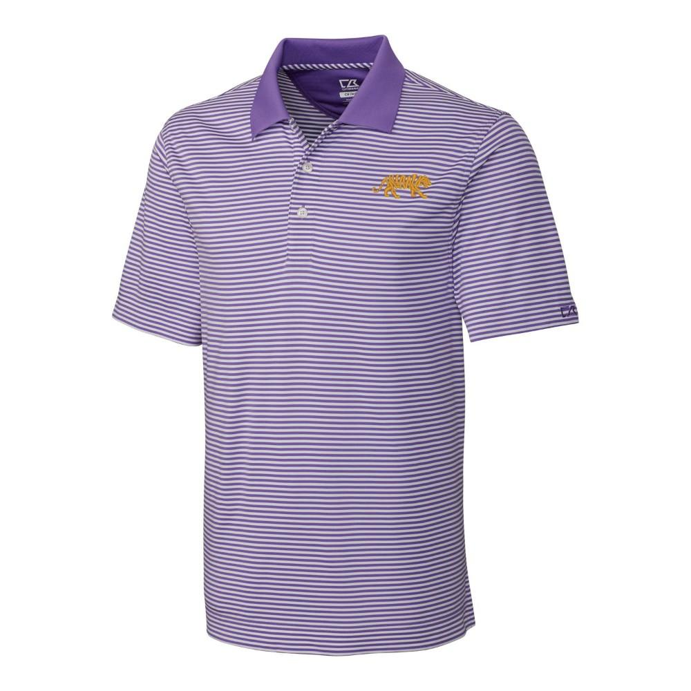 Lsu Cutter And Buck Drytec Trevor Stripe Polo