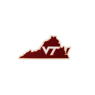 Virginia Tech 2 Inch State Vinyl Decal