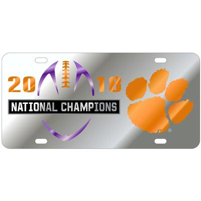 Clemson 2018 National Champions Silver License Plate