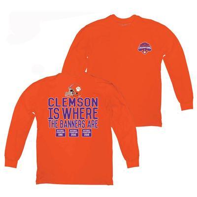 Clemson 2018 National Champions Long Sleeve Banner Tee