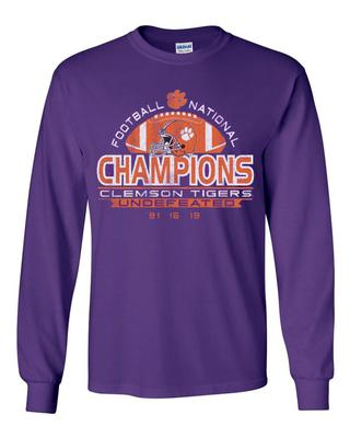 Clemson National Champions Undefeated Long Sleeve Tee