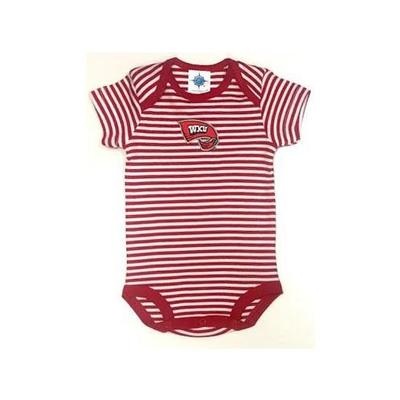 Western Kentucky Infant Striped Body Suit