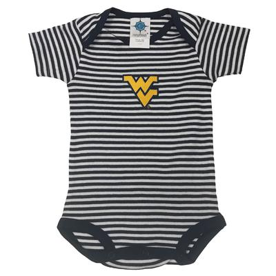 West Virginia Infant Striped Bodysuit