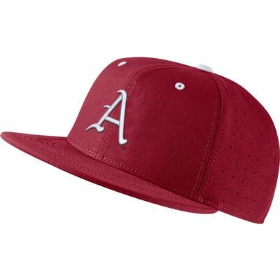 Arkansas Nike Aero Baseball Fitted Cap