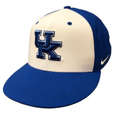 Kentucky Nike Aero Baseball Fitted Cap WHT/ROYAL