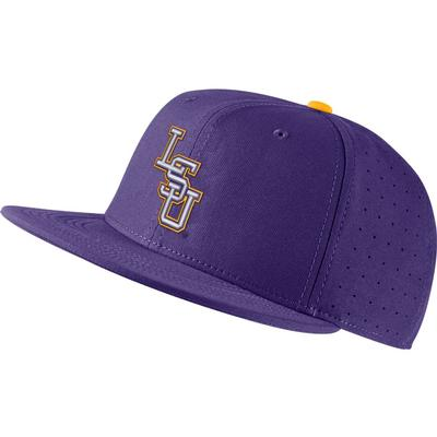 LSU Nike Aero Baseball Fitted Cap